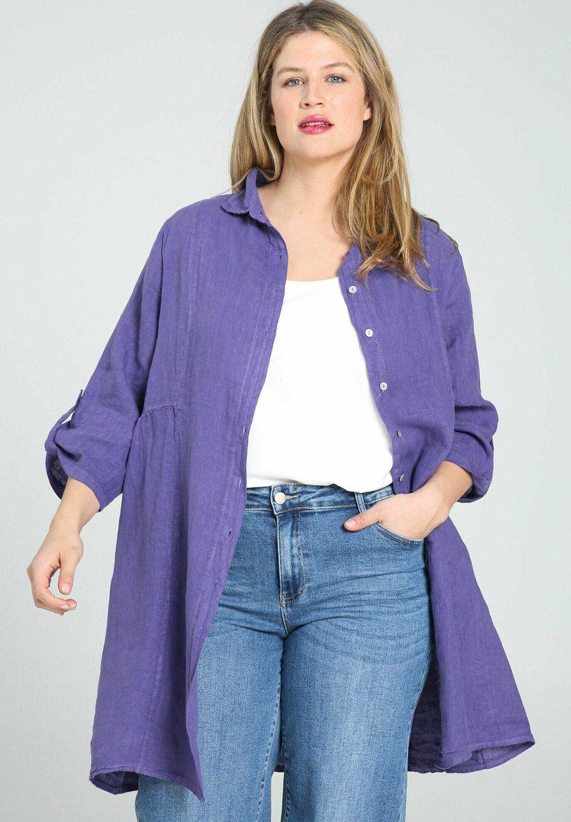 Paprika - Button-down blouse - purple