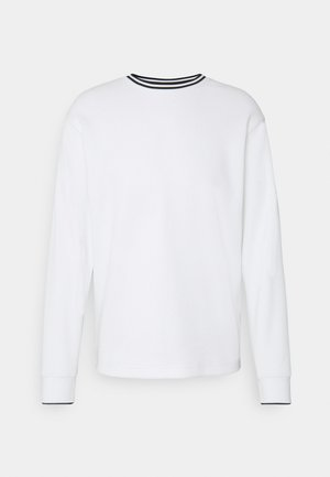 DRY CREW TOP - Neule - summit white/black