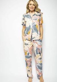 Cyberjammies - Pyjama bottoms - grey peach - 1