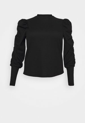 VMSIE HIGHNECK GATHERING  - Bluser - black