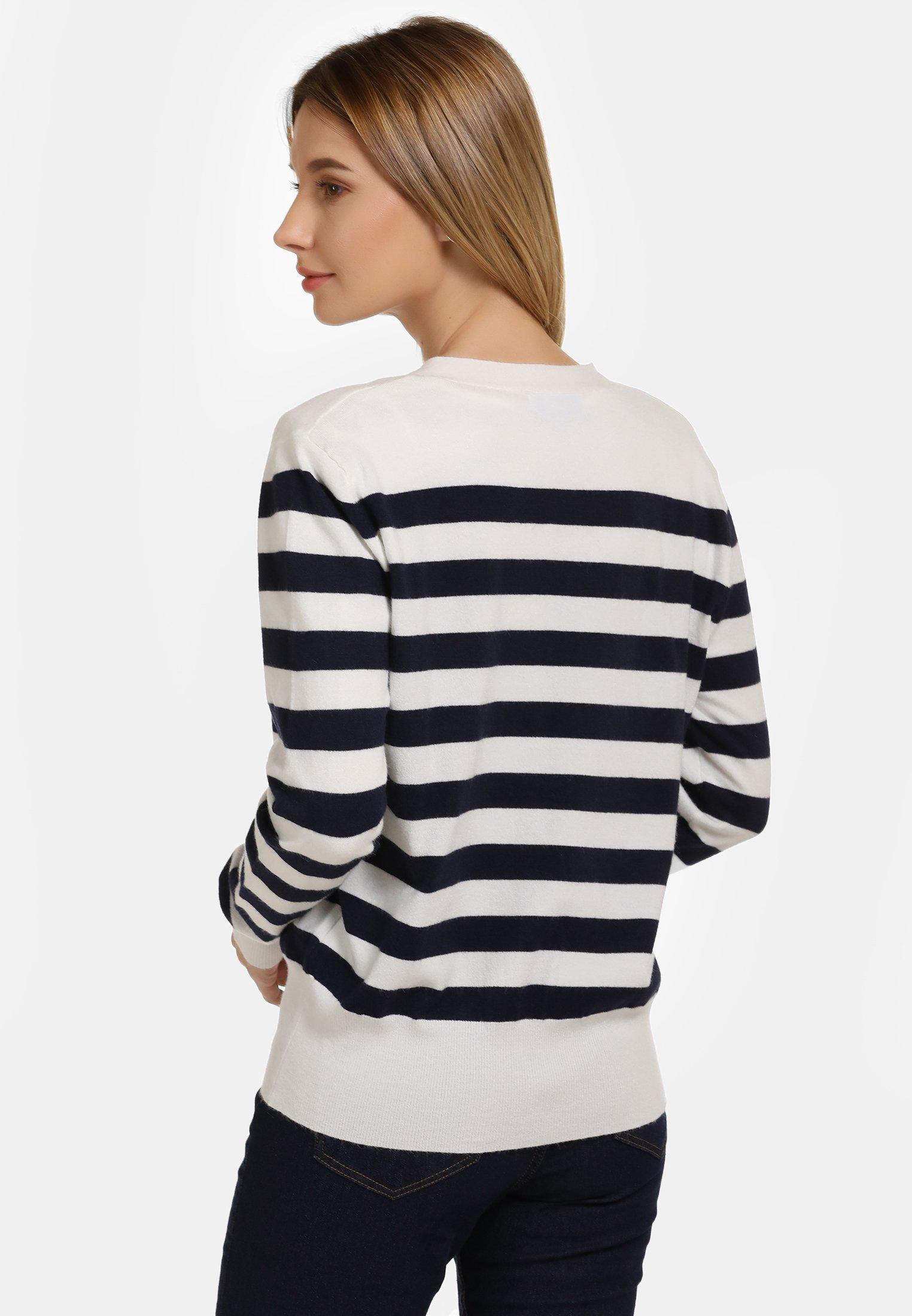 Outlet Women's Clothing usha Cardigan off-white/navy s4UVyhGIW
