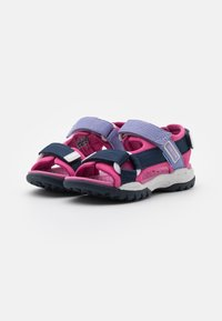 Geox - BOREALIS GIRL - Walking sandals - navy/fuchsia - 1