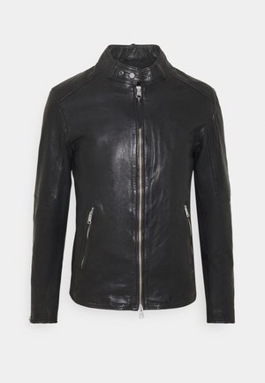 CORA JACKET - Leather jacket - jet black