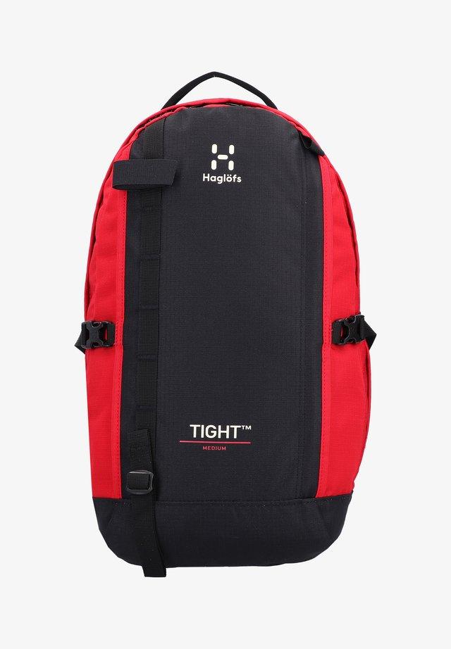 TIGHT MEDIUM - Rucksack - true black scarlet red