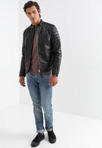 Schott - FUEL - Leather jacket - black - 1
