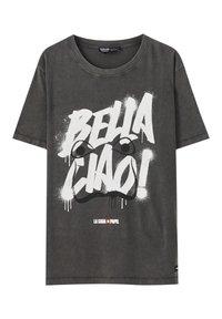 PULL&BEAR - LA CASA DE PAPEL - Print T-shirt - dark grey - 0