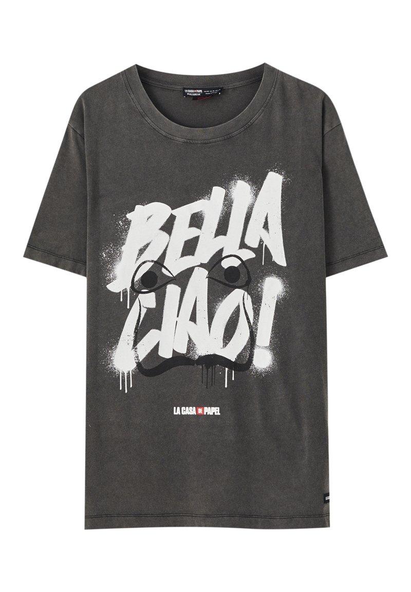 PULL&BEAR - LA CASA DE PAPEL - Print T-shirt - dark grey
