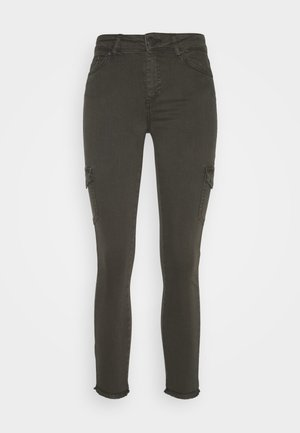 ONLBLUSH LIFE MID RAW  - Jeans Skinny Fit - beluga