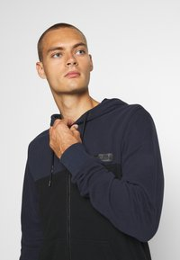Calvin Klein - COLOR BLOCK ZIP THROUGH HOODIE - Felpa aperta - blue - 3