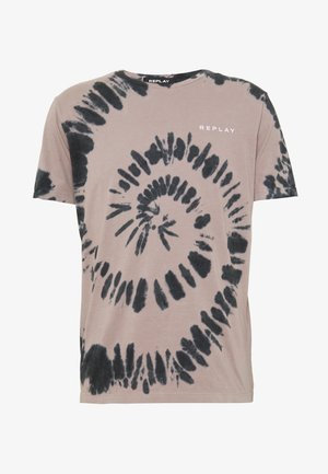 T-shirt con stampa - nude