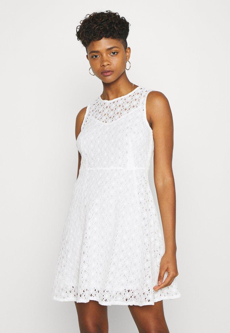 Vero Moda - VMALLIE SHORT DRESS - Day dress - snow white