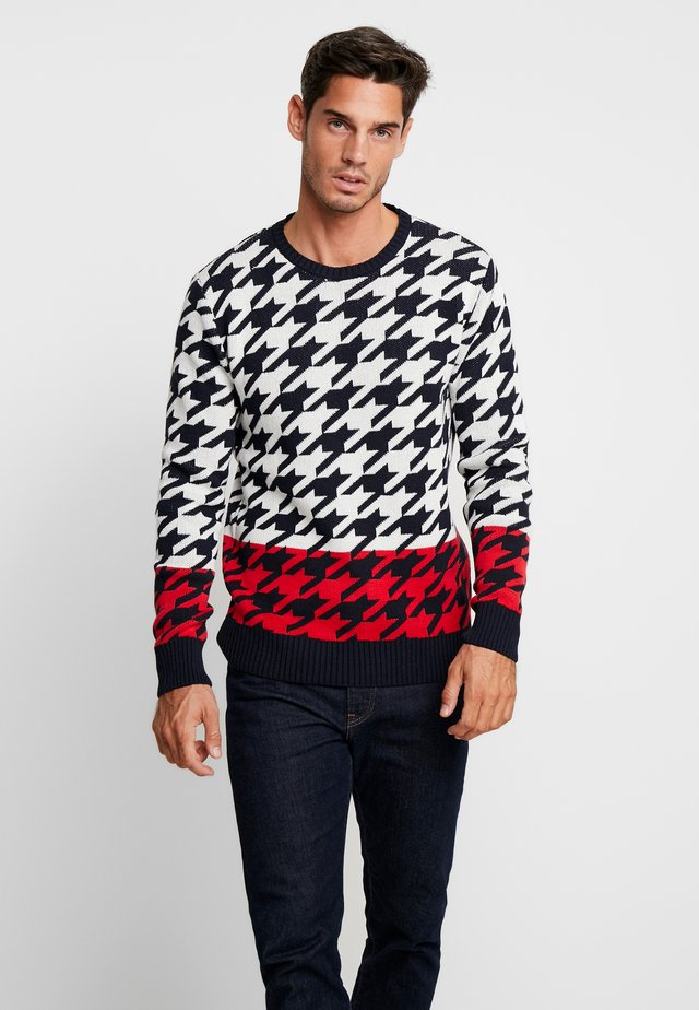 BILLY - Neule - navy/red/off white