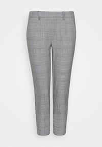 Object Petite - OBJLISA SLIM PANT - Trousers - gardenia/black - 0