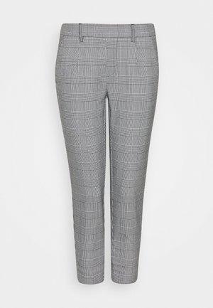 OBJLISA SLIM PANT PETIT - Kalhoty - gardenia/black