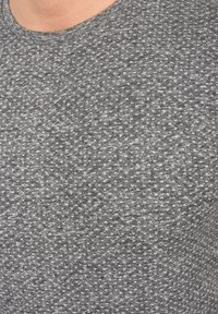 Solid - Basic T-shirt - dark grey melange - 3