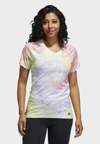 adidas Performance - RISE UP 'N RUN SANTA MONICA T-SHIRT - Print T-shirt - red - 0