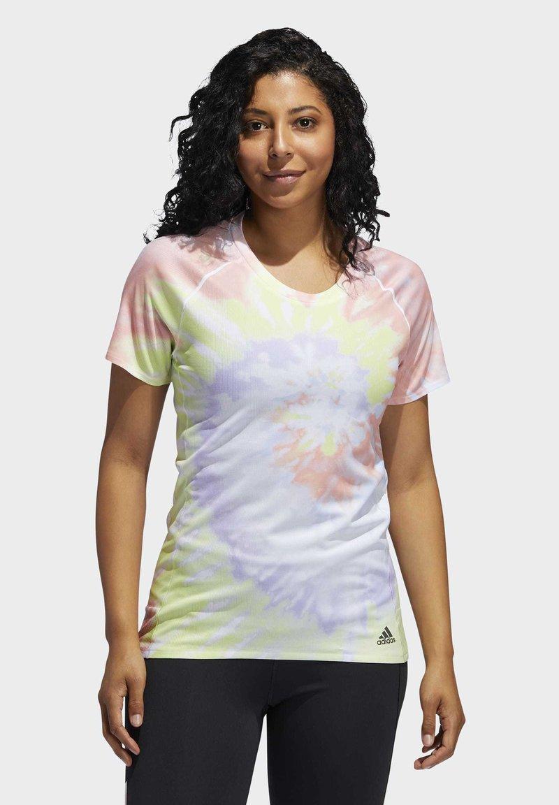 adidas Performance - RISE UP 'N RUN SANTA MONICA T-SHIRT - Print T-shirt - red