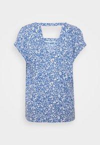 TOM TAILOR DENIM - V NECK  - Camiseta estampada - mid blue - 1