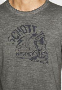 Schott - Print T-shirt - charcoal - 5