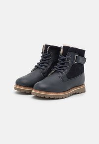 Friboo - LEATHER - Lace-up ankle boots - dark blue - 1