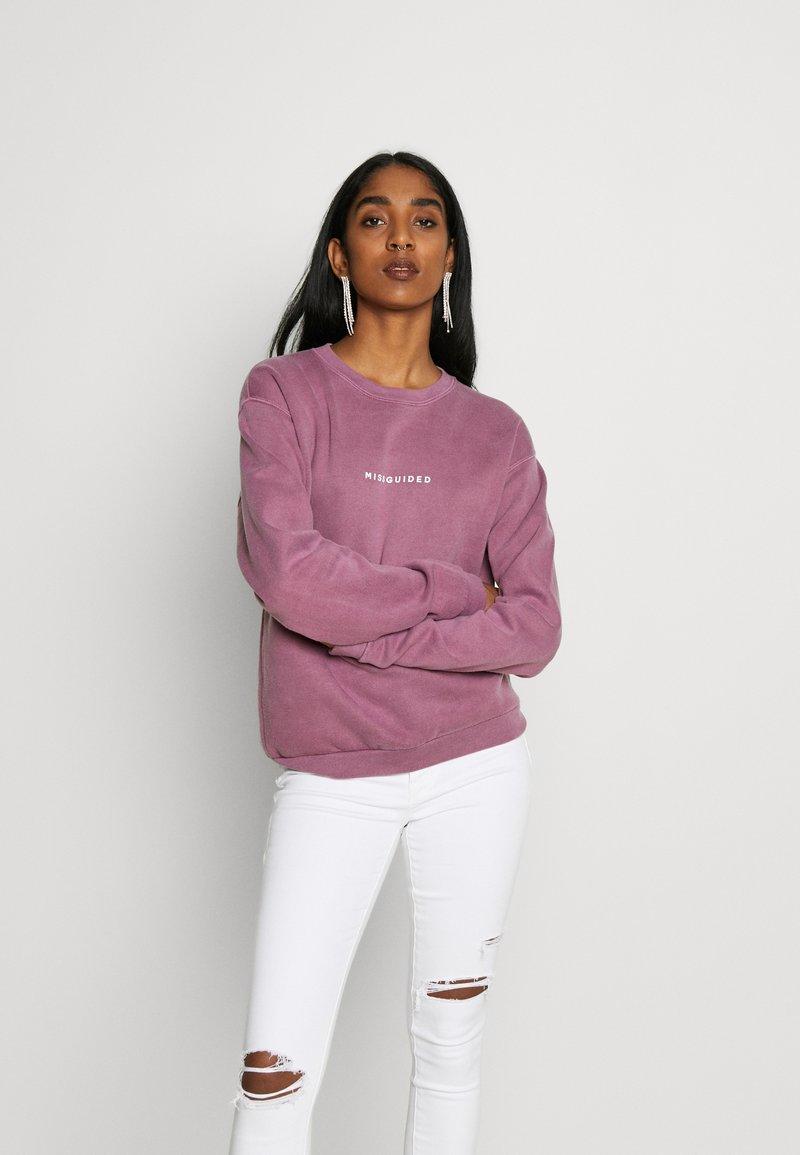 Missguided - WASHED - Sweatshirt - purple