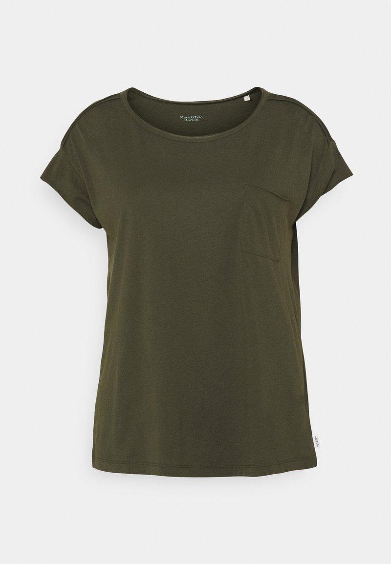 Marc O'Polo DENIM - SHORT SLEEVE CHEST POCKET - Basic T-shirt - deep depth
