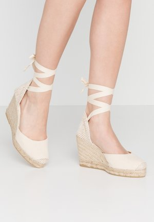 MARMALADE WIDE FIT - High heeled sandals - natural