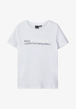 LMTD T-SHIRT BEDRUCKTES - Print T-shirt - bright white