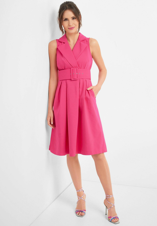 KLEID MIT GÜRTEL - Day dress - rosa