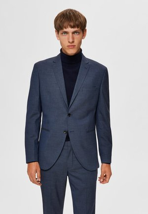 Blazer jacket - medium blue melange