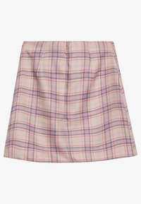 Lost Ink - PLEAT DETAIL CHECKED SKIRT - Miniskjørt - multi coloured - 1