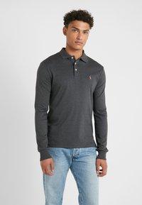 Polo Ralph Lauren - PIMA KNT - Polo shirt - dark grey heather - 0