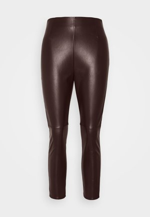 SEAM DETAIL  - Leggings - Trousers - chocolate