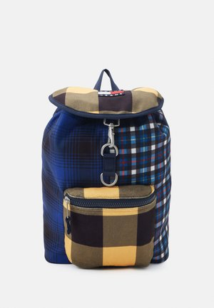 HERITAGE BACKPACK CHECK - Rucksack - blue