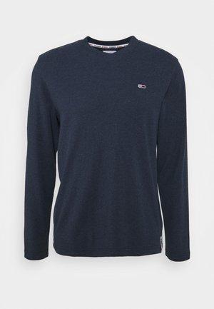 MINI WAFFLE JASPE LONGSLEEVE - Stickad tröja - blue