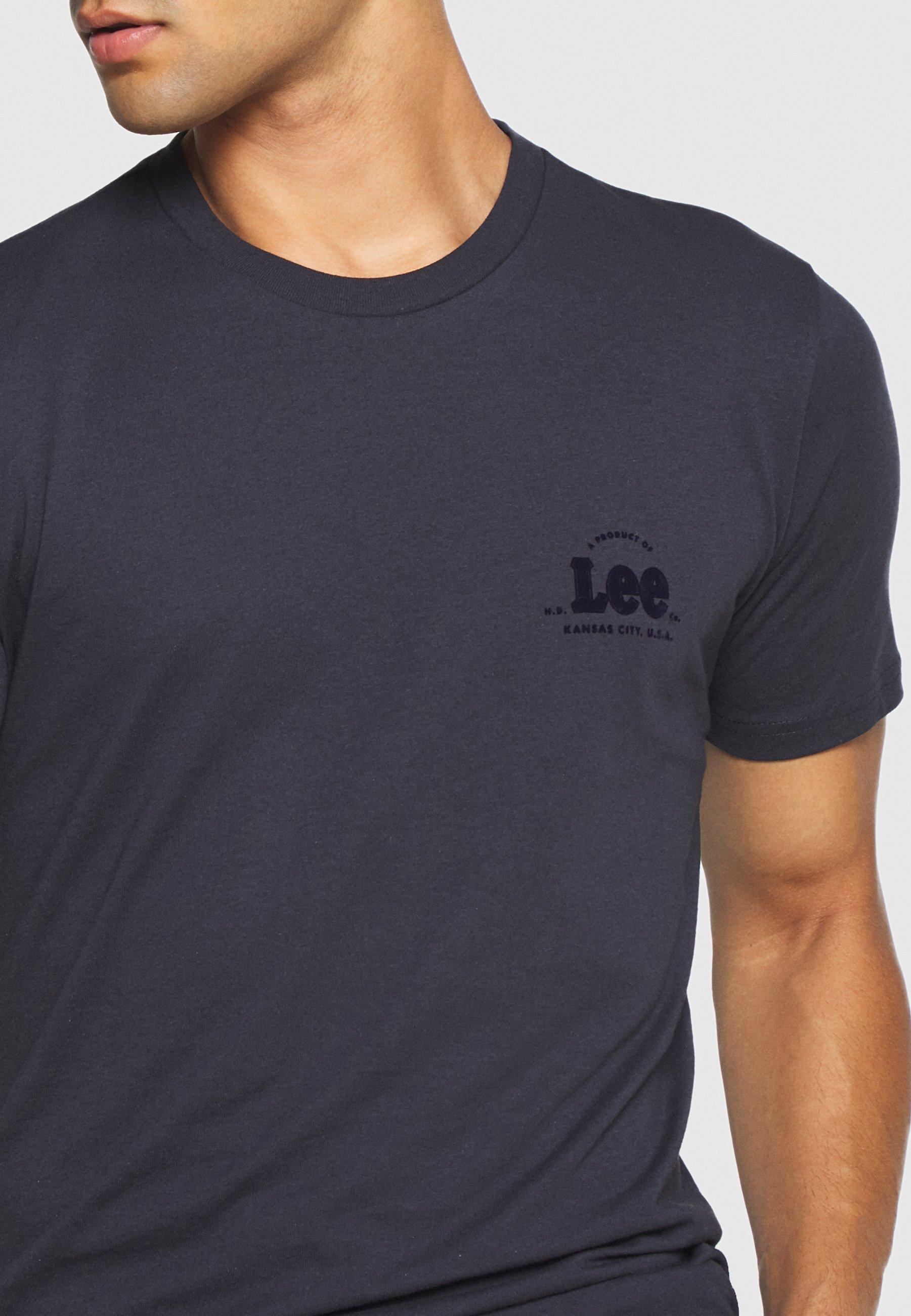 Lee TONAL FLOCK LOGO TEE T shirts med print sky captain