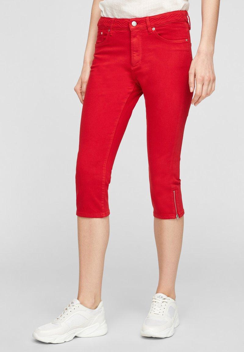 s.Oliver - Denim shorts - red