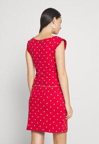 Ragwear - TAG DOTS - Jersey dress - red - 2