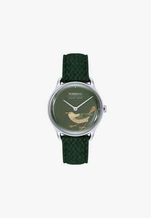 UHR MORRIS & CO SILVER BIRD GREEN PERLON 30MM - Orologio - green