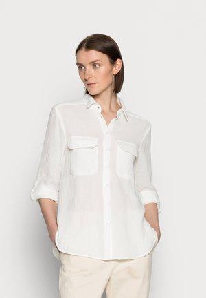 JING - Button-down blouse - snow white