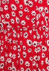 JDY - JDYSTARR LIFE BUTTON DRESS - Paitamekko - valiant poppy/black/bright white - 2