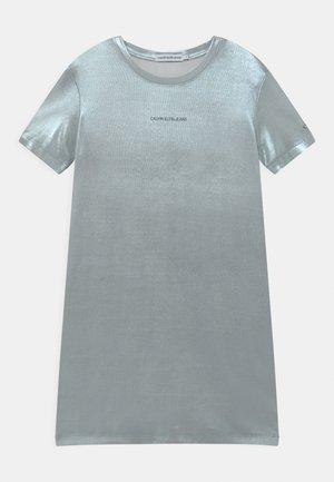 Jersey dress - silver metallic