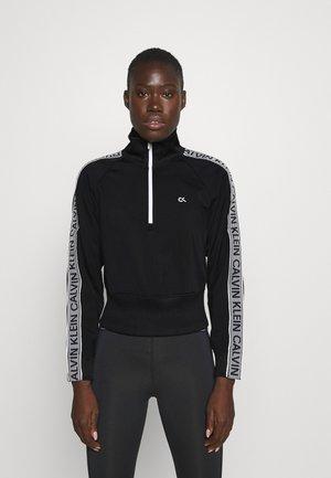 1/4 ZIP - Sweatshirt - black/bright white