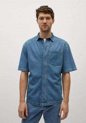 Shirt - mittelblau