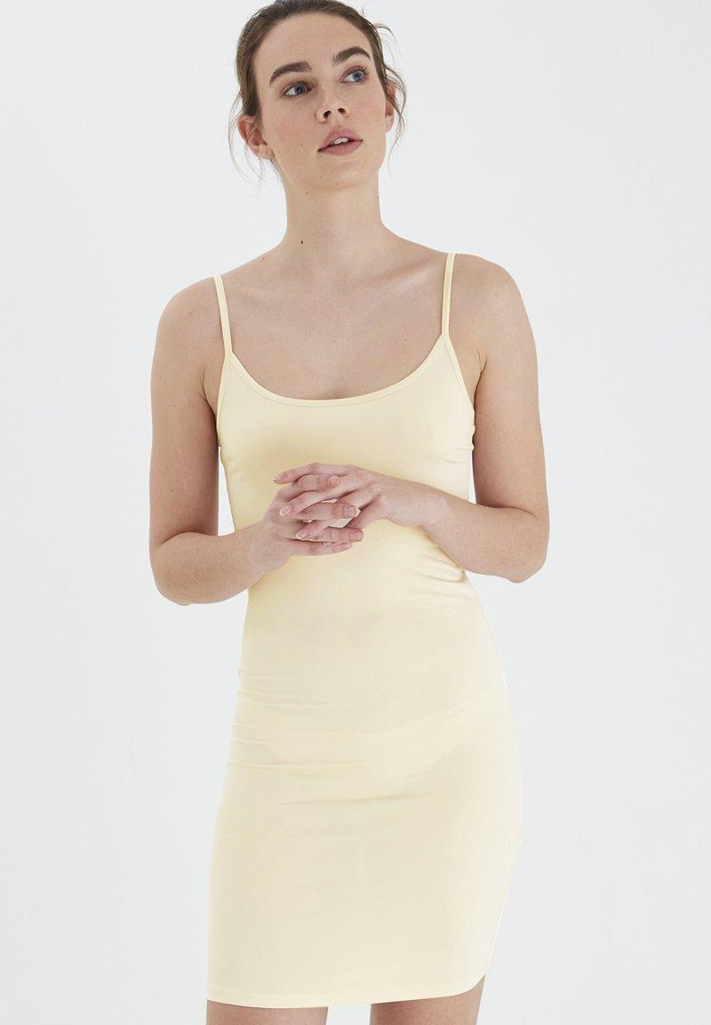 ICHI - SLIM SLIP DRESS - Nightie - natural