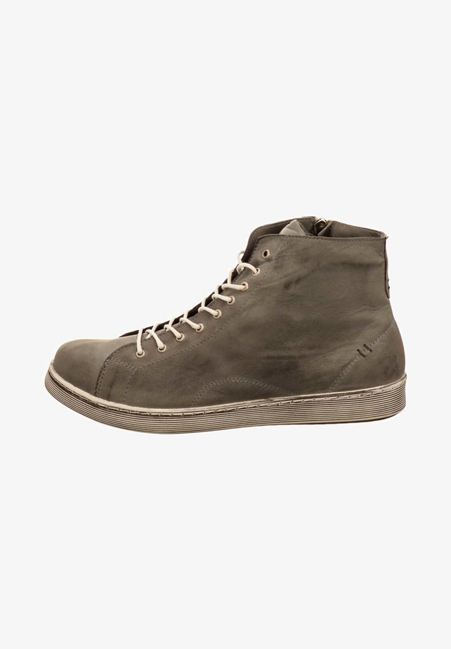 Lace-up ankle boots - grey
