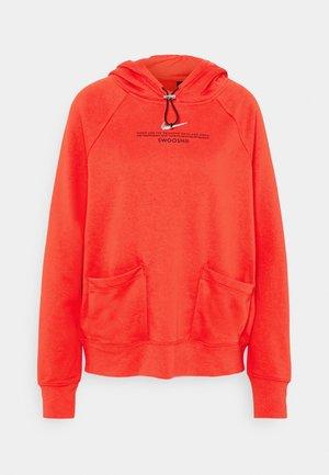 HOODIE - Sweatshirt - crimson/black