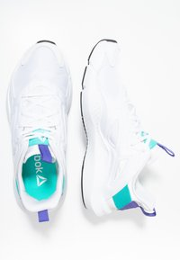 Reebok - SOLE FURY ADAPT - Neutral running shoes - white/solid teal/ultra purple - 1