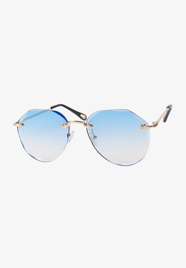 Sunglasses - gestell gold / glas blau verlauf