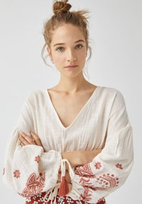 PULL&BEAR - Blouse - white - 3